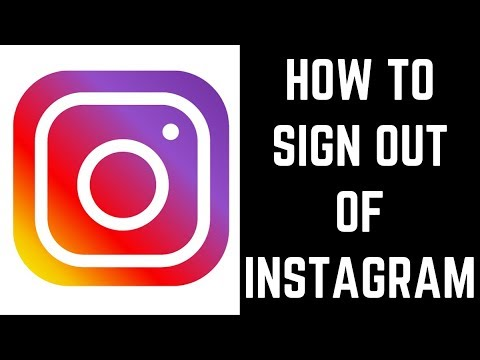 How to sign out of instagram